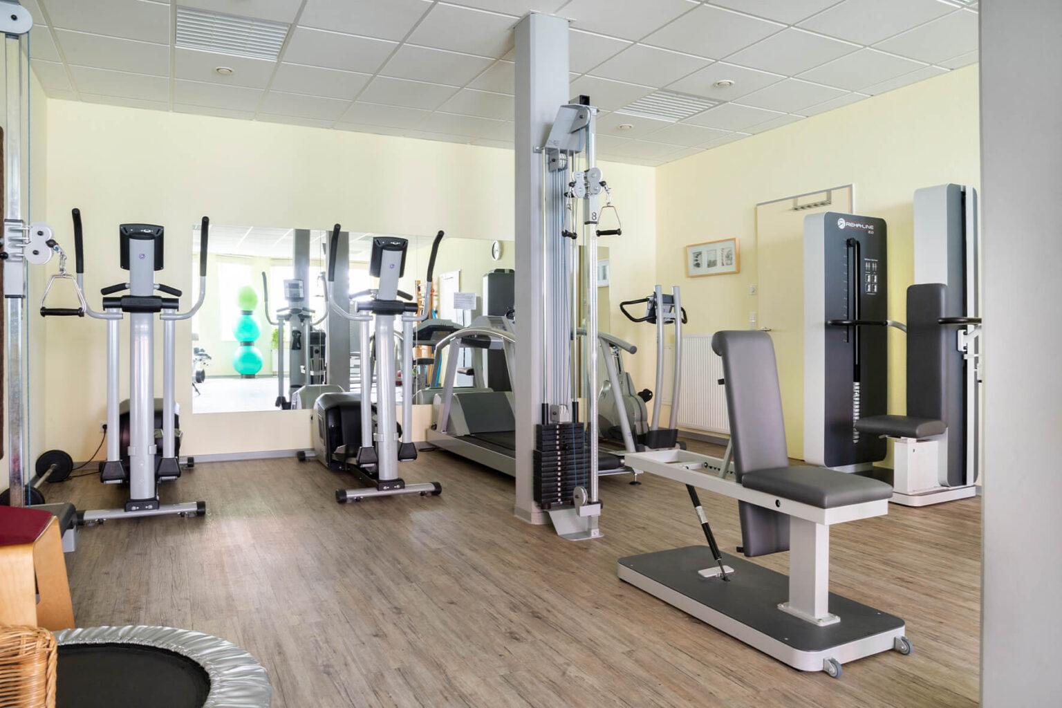 Fitnessbereich von Physiotherapie Tanja Borgelt